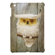 Cute Owl & Wood iPad Mini Cover For The iPad Mini