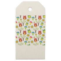Cute Owl Wooden Gift Tags