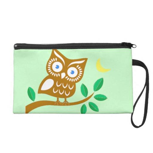 Cute Owl Wristlet Purse