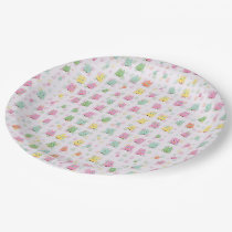 cute owls allover A Paper Plate