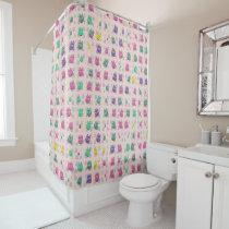 cute owls allover B Shower Curtain