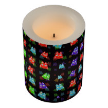 cute owls allover C Flameless Candle