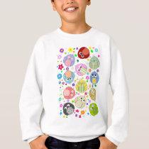 Cute Owls and Flowers pattern Sweatshirt