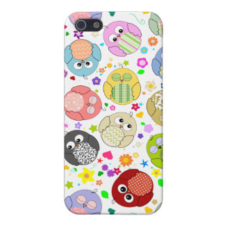 Cute Owls and Flowers pern Cases For iPhone 5