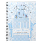 Cute Owls and Lace Baby Shower Guest Book- Note Book