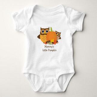 Cute Owls and Pumpkin Fall  Baby Creeper