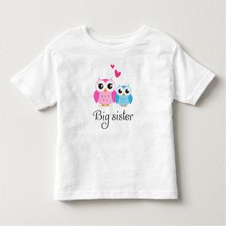Cute owls big sister little brother cartoon toddler t-shirt