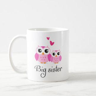 Cute owls big sister little sister cartoon classic white coffee mug