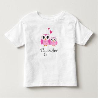 Cute owls big sister little sister cartoon toddler t-shirt