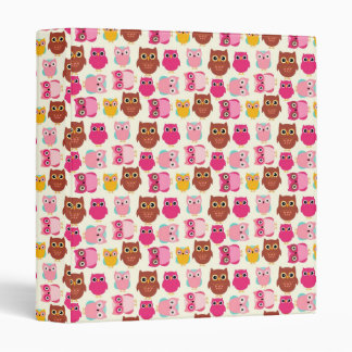 Cute Owls Binder
