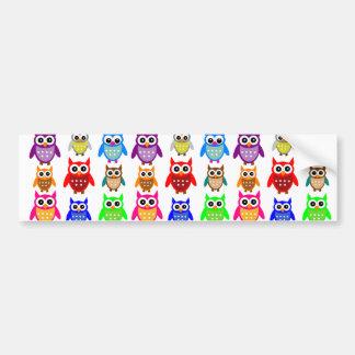 cute owls car bumper sticker