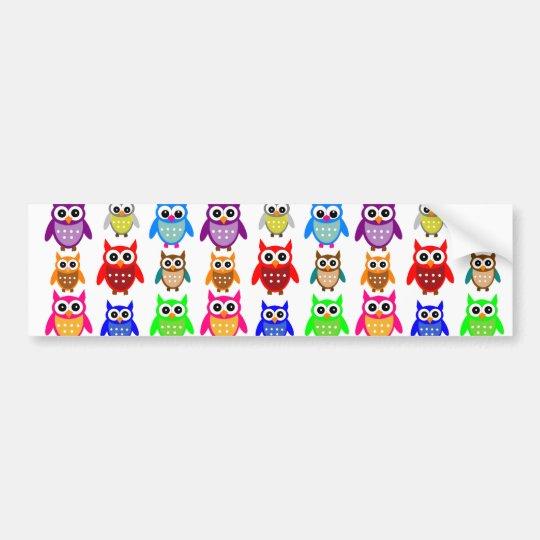 cute owls bumper sticker