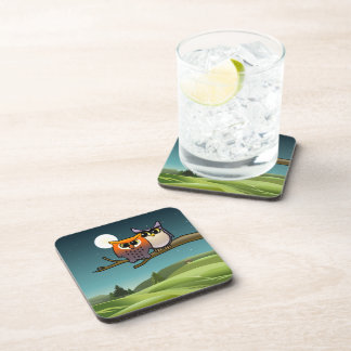 Cute Owls Cartoon Drink Coaster