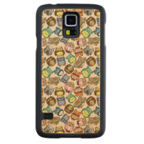 Cute Owls Carved Maple Galaxy S5 Case