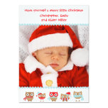 """Cute Owls Christmas Card 5"""" X 7"""" Invitation Card"""