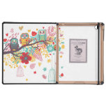 Cute Owls colourful floral hearts background iPad Cases