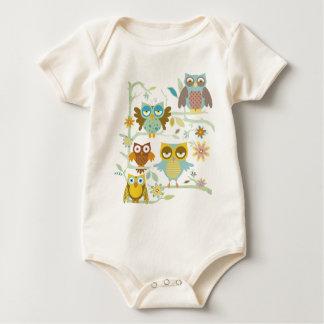 Cute owls crew baby bodysuit