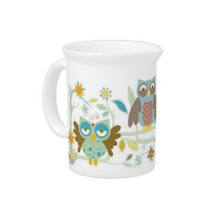 Cute owls crew pitcher