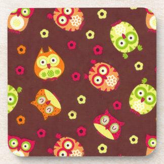 Cute Owls Drink Coaster