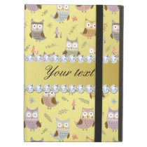 Cute Owls Faux Gold Foil Bling Diamonds Cover For iPad Air