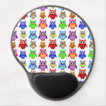 cute owls gel mouse pad