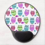 cute owls gel mouse pad