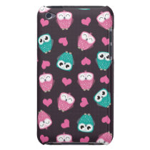 Cute Owls & Hearts iPod Touch 4 Case