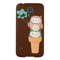 Cute Owls Ice Cream Cone Galaxy S5 Cover