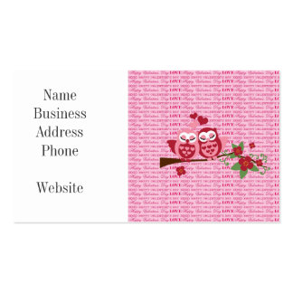 Cute Owls in Love Happy Valentine's Day Gifts Business Card