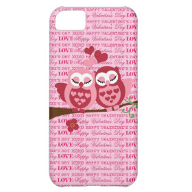 Cute Owls in Love Happy Valentine's Day Gifts Case For iPhone 5C