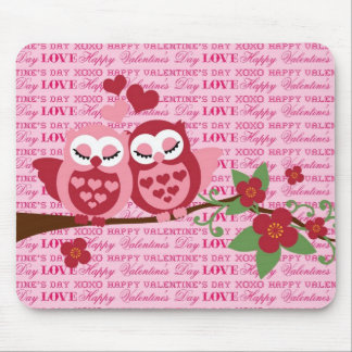 Cute Owls in Love Happy Valentine's Day Gifts Mouse Pad