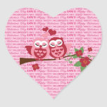 Cute Owls in Love Happy Valentine's Day Gifts Sticker