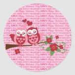 Cute Owls in Love Happy Valentine's Day Gifts Stickers
