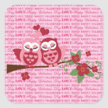 Cute Owls in Love Happy Valentine's Day Gifts Square Sticker