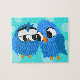 Cute Owls in Love Jigsaw Puzzles
