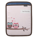 Cute Owls in Love (stripes and polka dots) Sleeves For iPads
