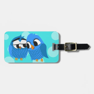 Cute Owls in Love Tag For Luggage