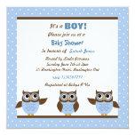 Cute Owls It's a boy Baby Shower Invitations