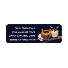 Cute Owls Label