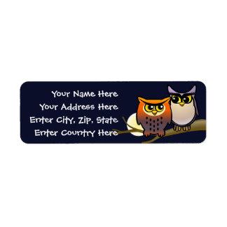 Cute Owls Return Address Label