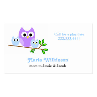 Cute Owls Mommy Card Double-Sided Standard Business Cards (Pack Of 100)