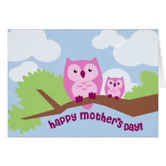 Cute Owls Mother's Day Card