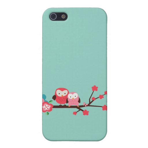 Cute Owls on a Branch iPhone 5 Covers