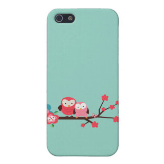 Cute Owls on a Branch iPhone Case Cover For iPhone 5/5S