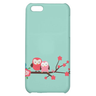 Cute Owls on a Branch iPhone Case iPhone 5C Cover