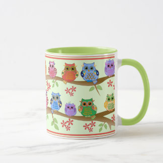 Cute Owls on Branches Mug
