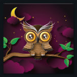 "Cute Owls on Colorful Branches green purple Photo Print<br><div class=""desc"">Cute Owls on Colorful Branches green purple                                             owl,  owls,  &quot;night owl&quot;,  moon,  animal,  animals,  bird,  birds,  cute,   puppy,  dream,   Goodnight,   cloud,   fantastic,   magic,   star,   child,   Moonscape,   character,   light,   fantasy,   illustration,   surreal,   adorable,   sky,    little,   mascot,   cartoon,   lunar,   graphic,   graphics,  halloween,   pattern,   prints,   model,   mold,   fly,  night,   cartoon,   cartoons, </div>"