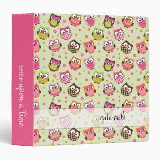 Cute Owls on Mint Memories Binder