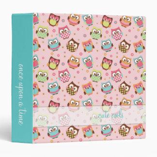 Cute Owls on Rose Memories Binder