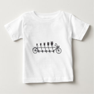 cute owls on tandem bicycle baby T-Shirt